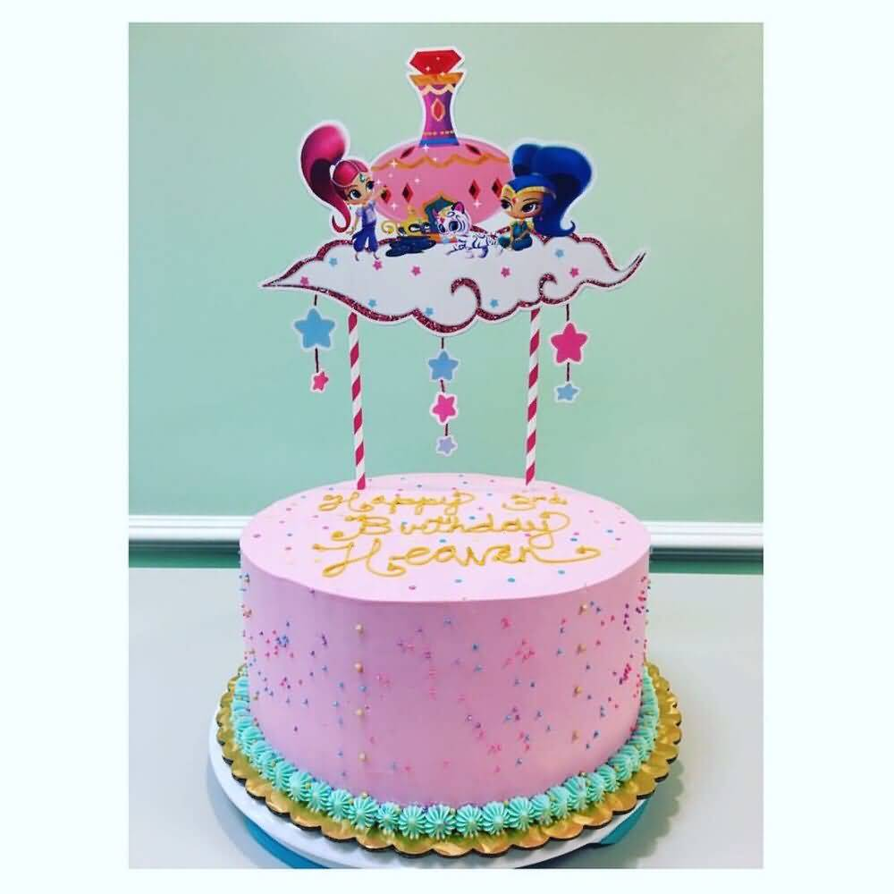 Shimmer and Shine Birthday Cake Image Photo Party 16