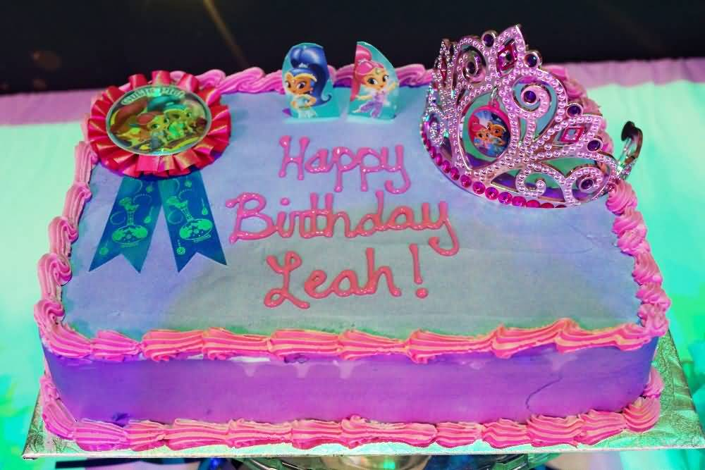 Shimmer and Shine Birthday Cake Image Photo Party 20