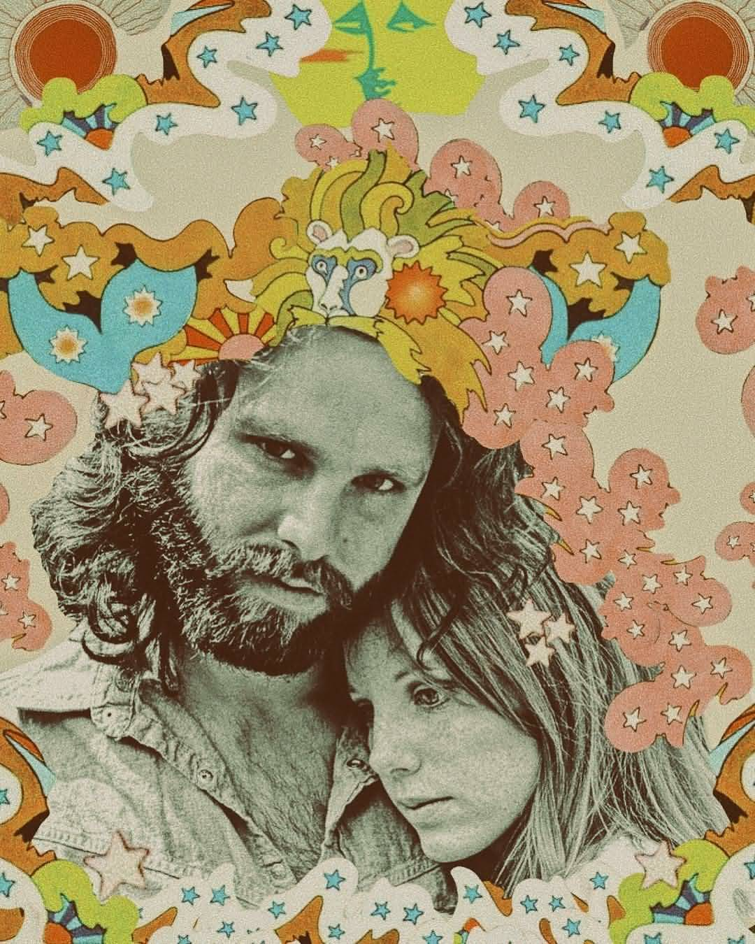 Some Rare Pictures Of Jim Morrison with Girlfriend Pamela Courson 22