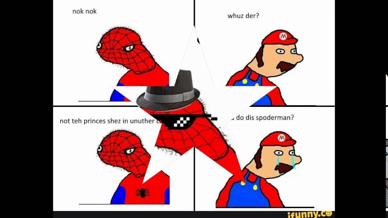 Spoderman Meme Funny Image Photo Joke 13