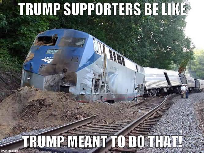 Trump Train Meme Funny Image Photo Joke 02