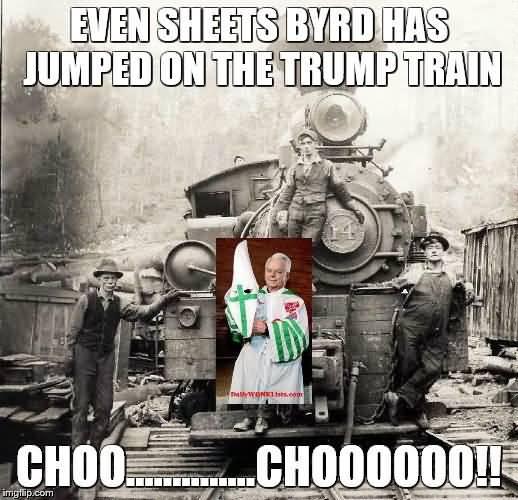 Trump Train Meme Funny Image Photo Joke 04