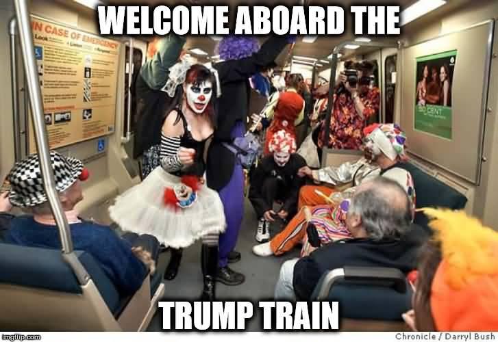 Trump Train Meme Funny Image Photo Joke 07