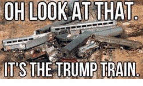 Trump Train Meme Funny Image Photo Joke 08