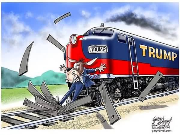 Trump Train Meme Funny Image Photo Joke 13