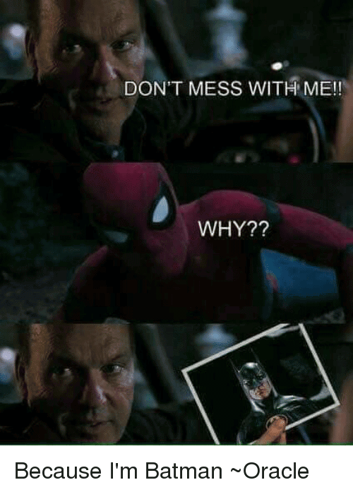 I'M Batman Meme Funny Image Photo Joke 02