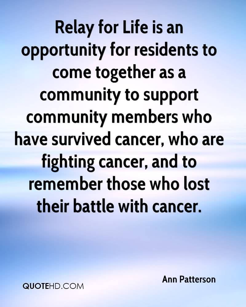 Relay For Life Quotes: 20 Relay For Life Quotes And Sayings Collection