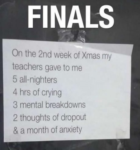 Finals On The Funny Quotes About Finals Week