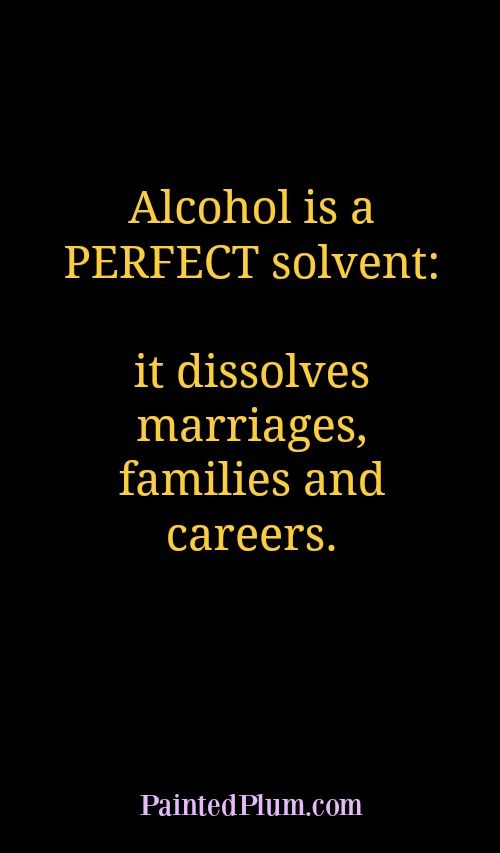 Alcohol Is A Perfect