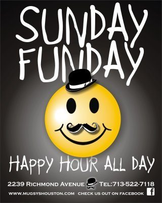 Sunday Funday Happy Hour All Day