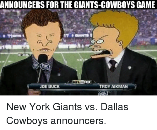 Announcing For The Giants
