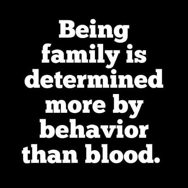 Being Family Is Determined Quotes About Fake Family