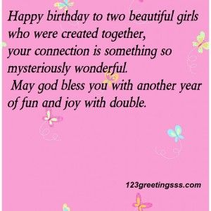 Birthday Wishes For Twins Images Happy Birthday To Two