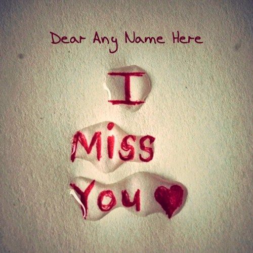Dear I Miss You Miss U Wallpaper For Boyfriend