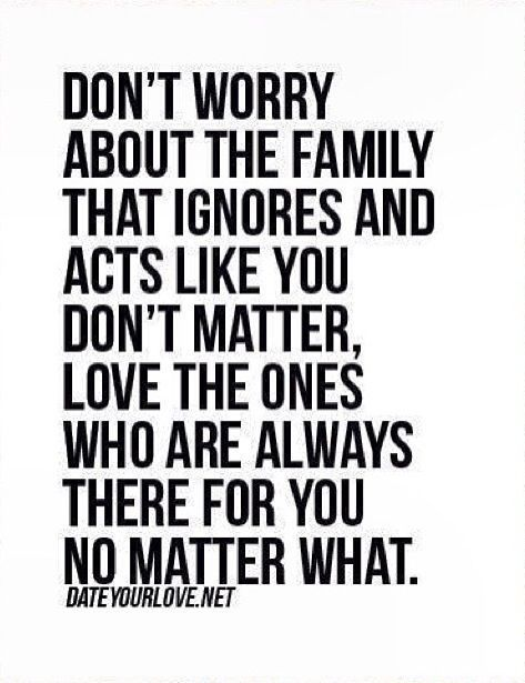 Don't Worry About The Fake Family Quotes