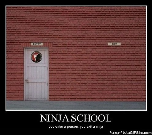 Funny Ninja Memes Ninja School You Enter A Person You Exit A Ninja Image