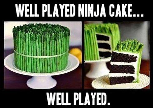 Funny Ninja Memes Well Played Ninja Cake Well Played Image