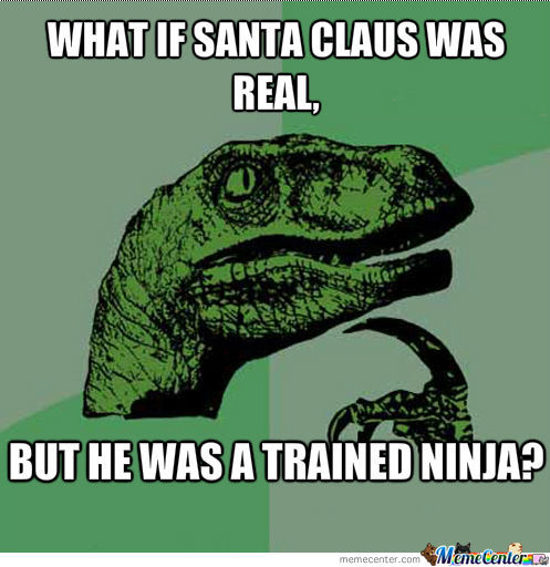 Funny Ninja Memes What If Santa Claus Was Real But He Was A Trained Ninja Picture