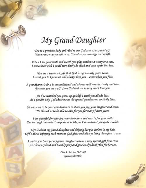 Granddaughters Are Special My Grand Daughter You're
