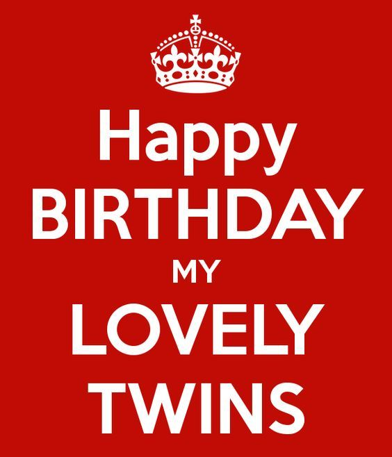 Happy Birthday My Lovely Wishes For Twins From Mom