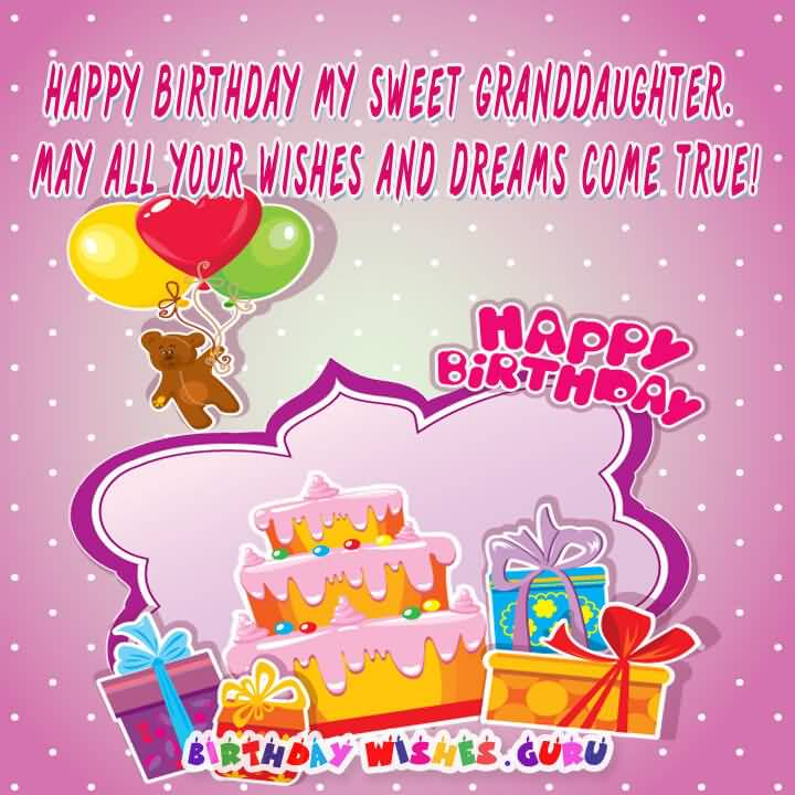 Happy Birthday My Sweet Sweet Sayings About Granddaughters
