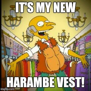 Harambe Meme It's My New Harambe Vest!