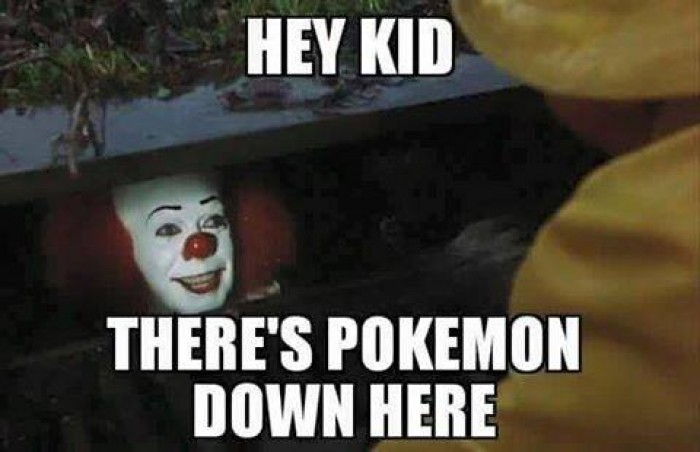 Hey Kid There's Pokemon Down Here Pokemon Go Memes