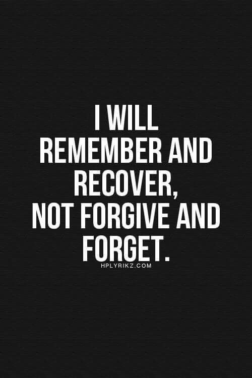 I Will Remember And Recover Fake Relatives Quotes