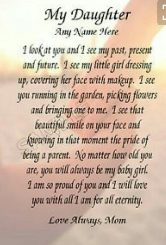 My Daughter I Look At You Proud Of My Granddaughter Quotes