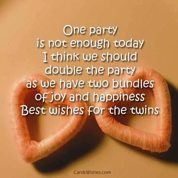 One Party Is Not Birthday Wishes For Twins Images