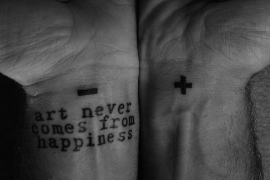 Positive Negative Beautiful Quotes Tattoo On Bipolar