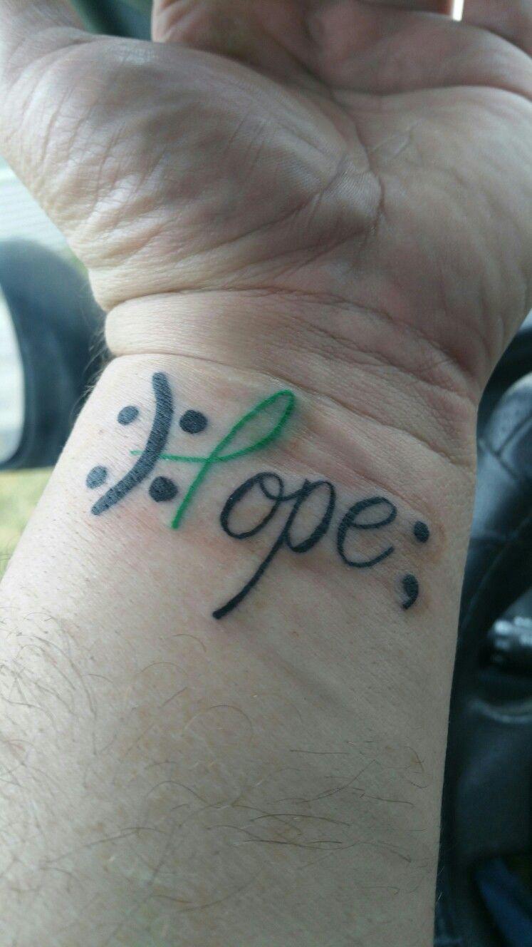 Sad Happy Emoji Hope Semicolon Bipolar Tattoo On Arm
