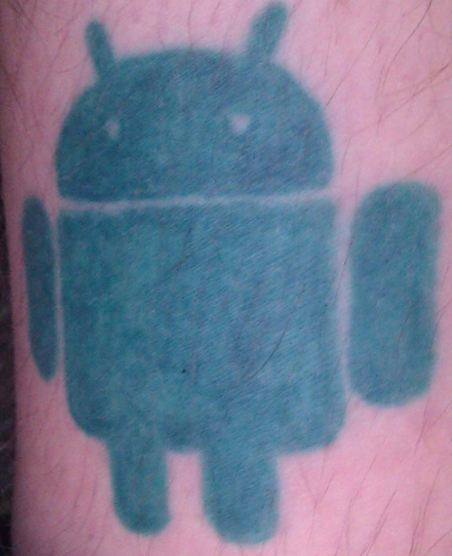 Small Green Android Tattoo Logo