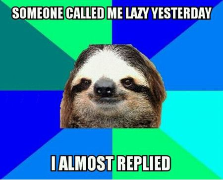 Someone Called Me Lazy Yesterday I Almost Replied Funny Lazy Memes