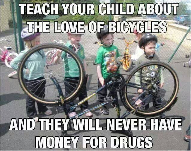 Teach Your Child About The Love Of Bicycles And They Will Never Funny Ninja Memes Graphic