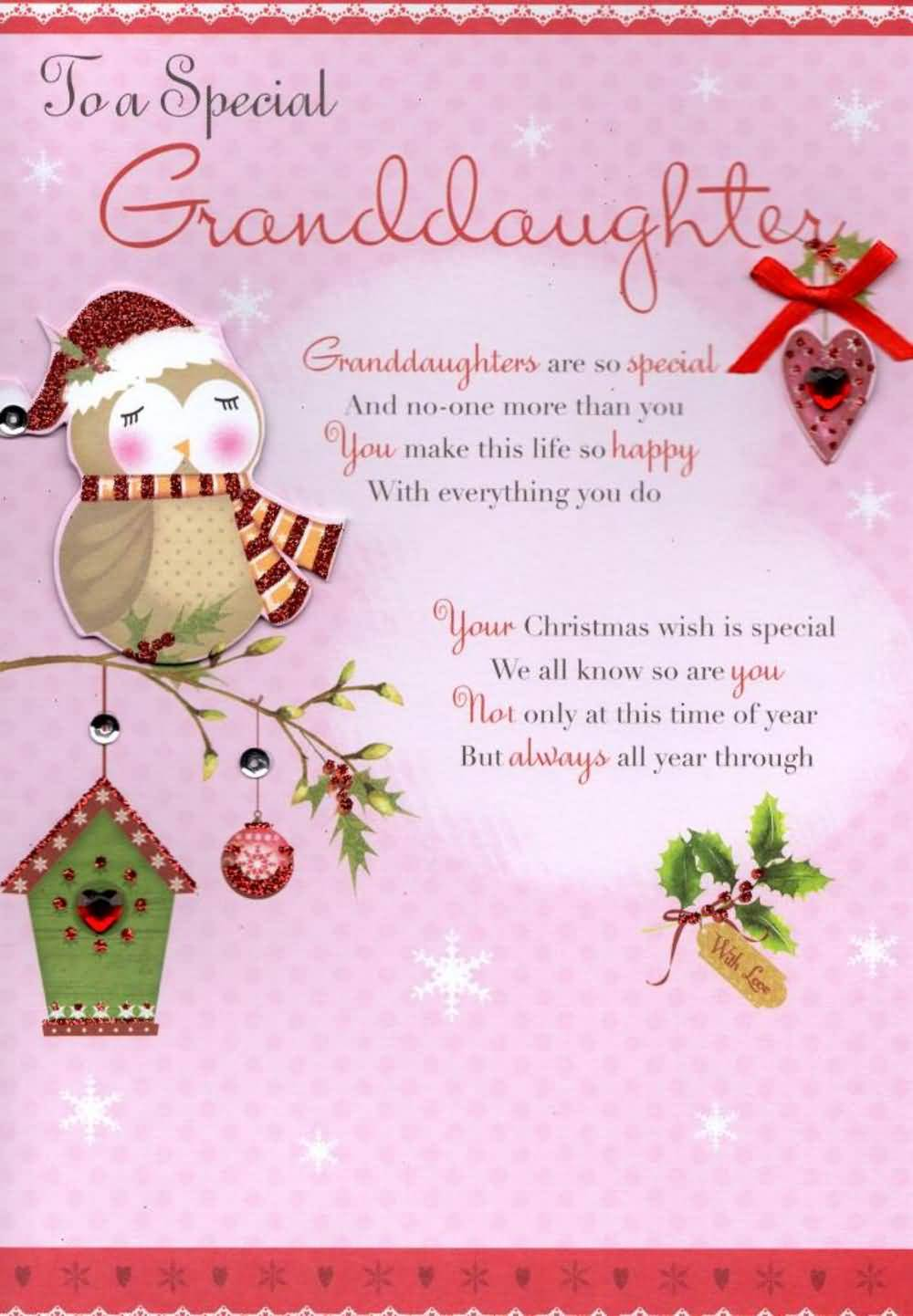 To A Special Granddaughter Granddaughters Are Special