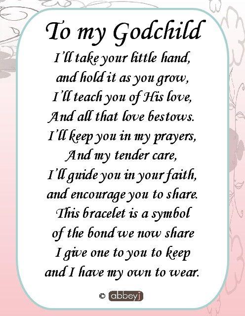 To My Godchild I'll