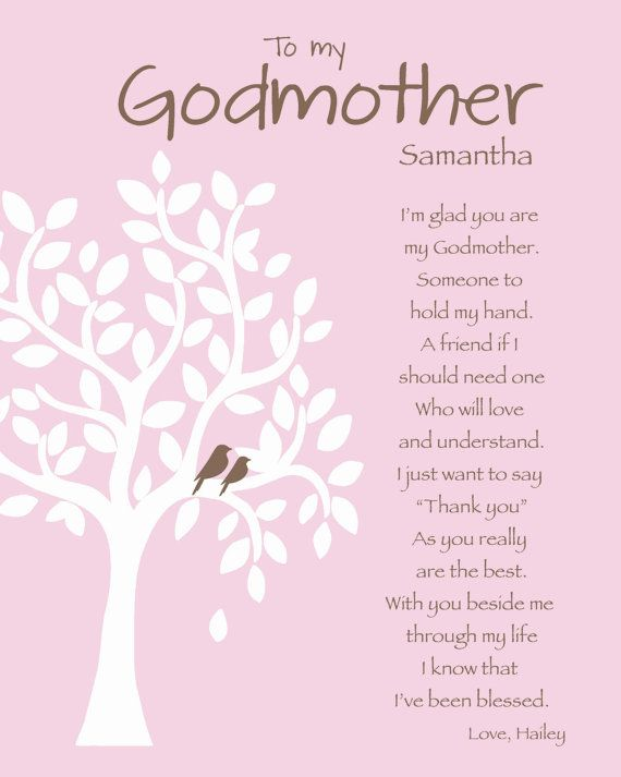 To My Godmother Samantha