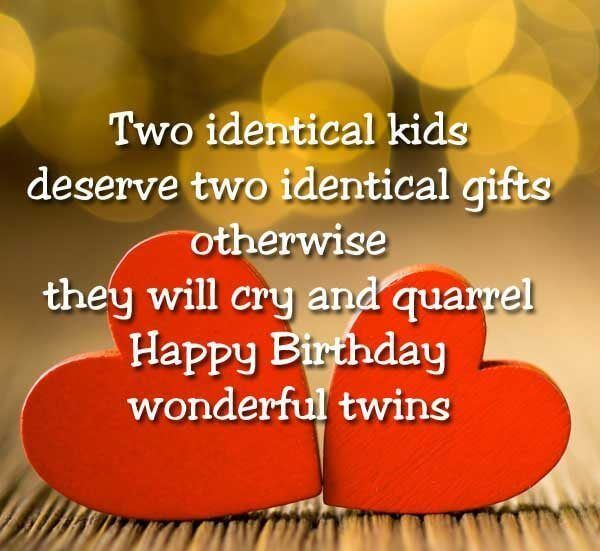 Two Identical Kids Deserve Birthday Wishes For Twins Images