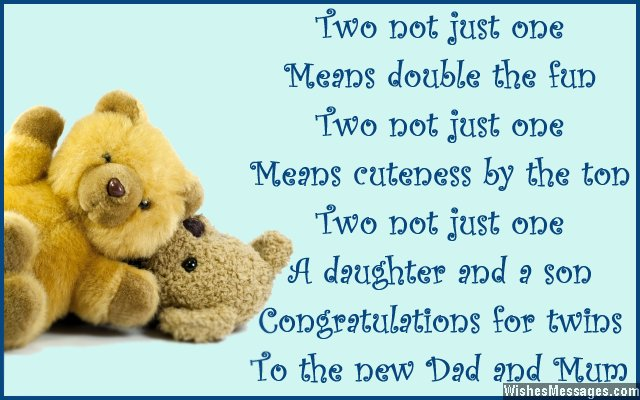 Two Not Just One Birthday Wishes For Twins From Mom