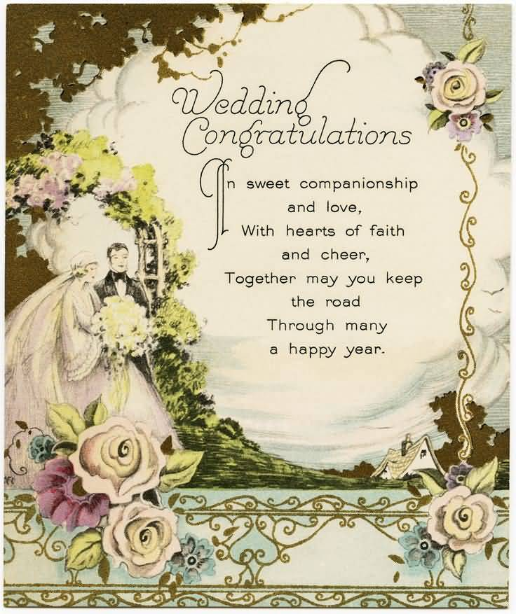Wedding Congratulations In Sweet Wedding Wishes Images Free Download