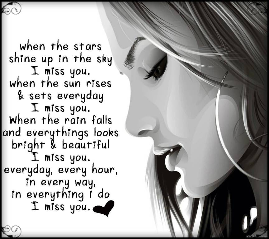 When The Stars Shine I Miss You Miss U Wallpaper For Boyfriend