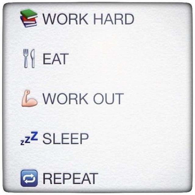 Work Hard Eat Work Out Emoji Quotes About Life