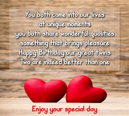 You Both Came Into Birthday Wishes For Twins From Mom Quotesbae