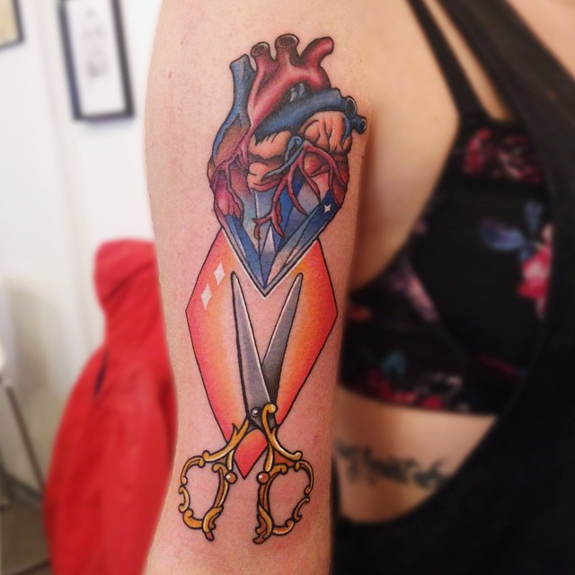 Anatomical Heart Tattoos (18)