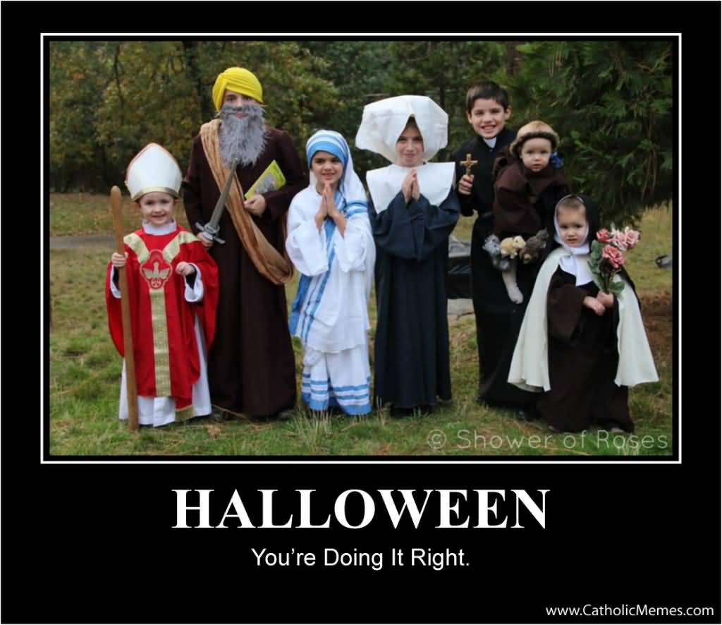 Halloween You're Doing It Halloween Day Meme
