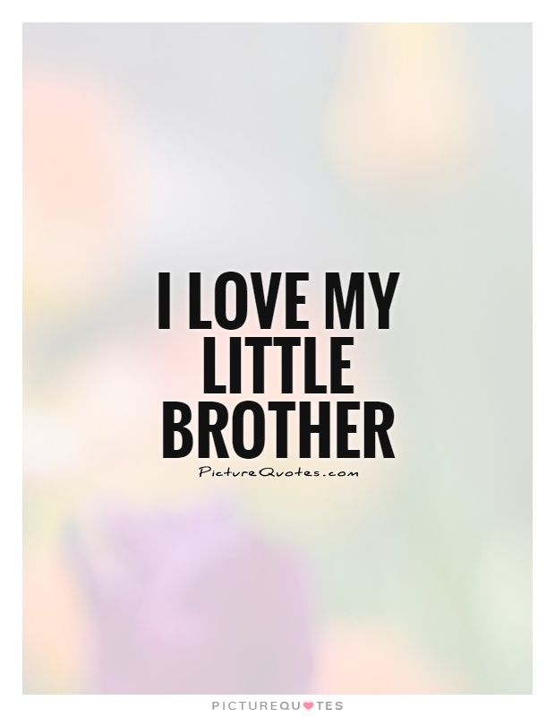 I Love My Little Brother Quotes