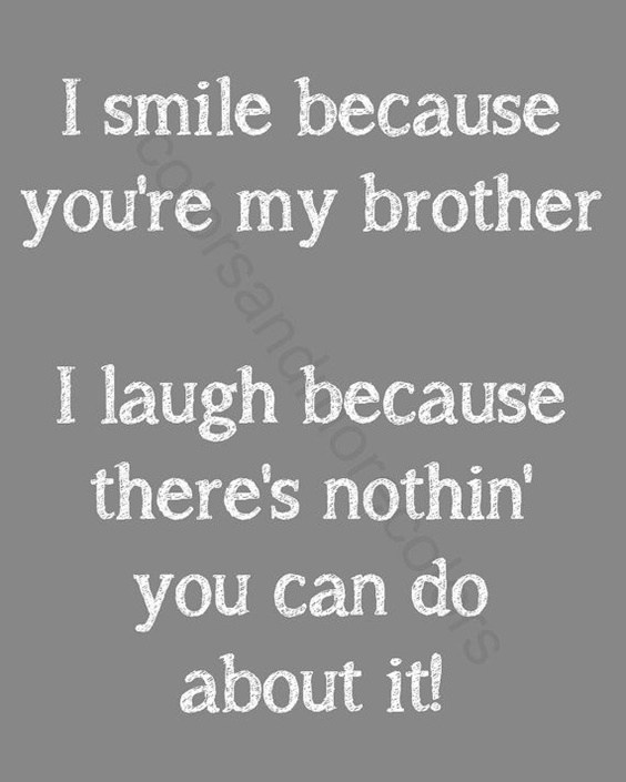 I Smile Because You're Brother Quotes