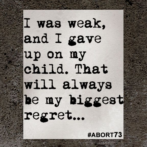 I Was Weak And I Gave Abortion Quotes