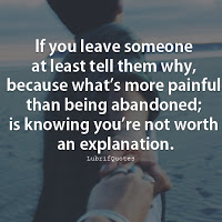 If You Leave Someone At Least Abandonment Quotes